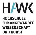 Logo HAWK-Hochschule Hildesheim/Holzminden/Göttingen