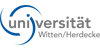 Wissenschaftlicher Mitarbeiter (m/w) für den Lehrstuhl Physiologie, Pathophysiologie & Toxikologie an der Fakultät für Gesundheit, Department für Humanmedizin - Universität Witten/Herdecke - Logo