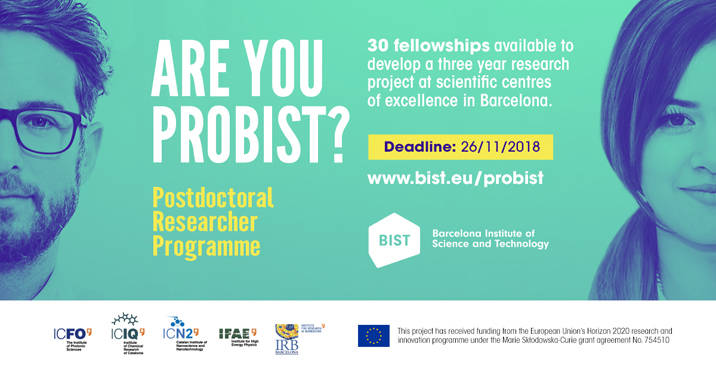 Job BIST Postdoctoral Fellowship Programme - The Barcelona Institute