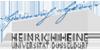 """Promotionsstipendien der Jürgen Manchot Graduiertenschule zum Thema """"Wettbewerbsfähigkeit junger Unternehmen"""" - Heinrich-Heine-Universität Düsseldorf - Logo"""