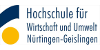 Stiftungsprofessur (W2) für Forensische Medizin - Hochschule für Wirtschaft und Umwelt Nürtingen-Geislingen (HfWU) - Logo