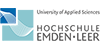 Wissenschaftlicher Mitarbeiter (m/w) im EFRE-Projekt Wohlergehen und Gesundheit mit Familien für Familien (WOGE) - Hochschule Emden/Leer - Logo