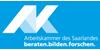 Referent (m/w/d) Wirtschafts- und Finanzpolitik - Arbeitskammer des Saarlandes - Logo