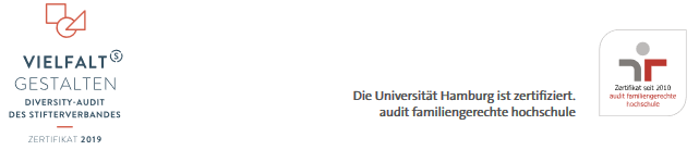 Open PhD and Postdoc Positions - Uni Hamburg - Zertifikat