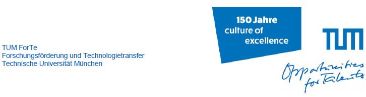 Wissenschaftsmanager/in (m/w/d)       für Projekt Europäische und Internationale Forschungsförderung - TUM - Logo