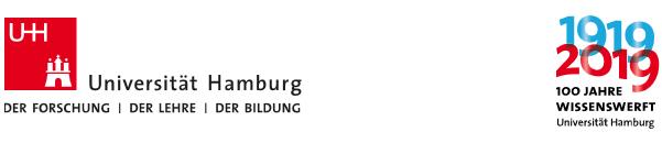 W2 Universitätsprofessur       für Erziehungswissenschaft u. b. B.       der Didaktik der Mathematik - Uni Hamburg - Logo