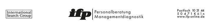 Sprecher der Geschäftsführung (m/w/d) - ifp - Logo