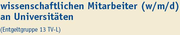 wisschenschaftlicher Mitarbeiter (m/w/d) an Universitäten - Uni Duisburg-Essen - Titel