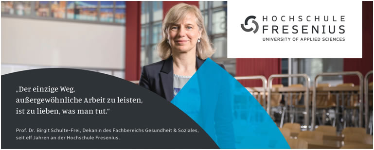 Professur im Bereich Ernährungswissenschaften - Hochschule Fresenius - Logo