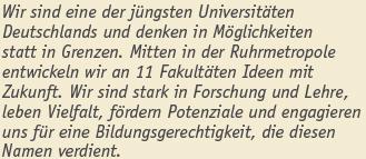 Doktorand als wissenschaftlicher Mitarbeiter - Uni Duisburg-Essen - logo