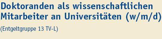 Doktorand als wissenschaftlicher Mitarbeiter - Uni Duisburg-Essen - Titel