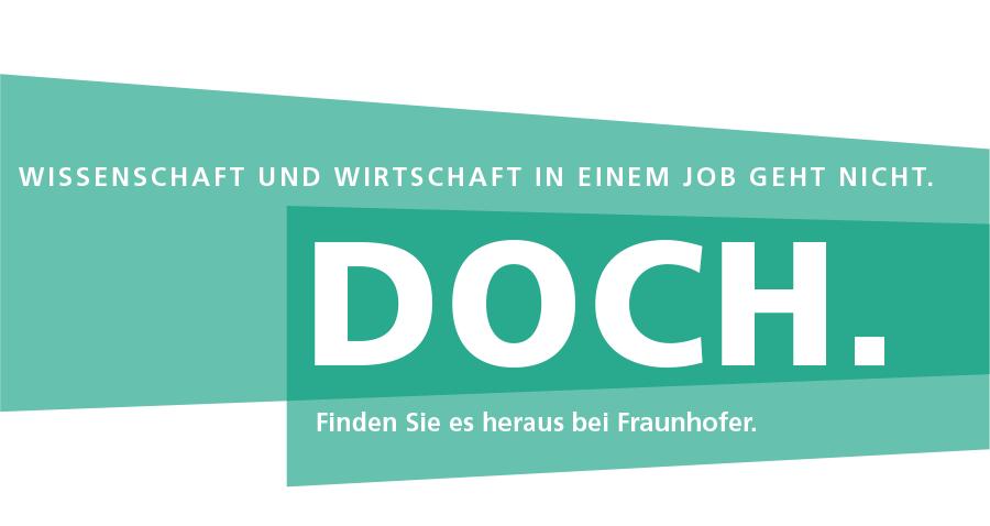 Wissenschaftlicher Mitarbeiter (m/w/d) der Institutsleiterin - FRAUNHOFER-INSTITUT - Bild