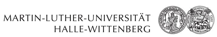 Professur Praktische Philosophie - Martin-Luther-Universität Halle-Wittenberg - Logo