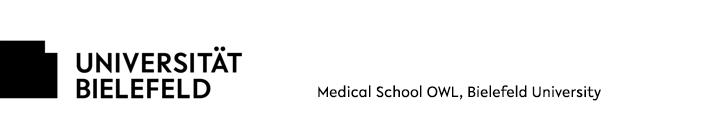 Professorship (W3 / W2 / W2 with Tenure Track) of Medical Psychology - Universität Bielefeld - Logo
