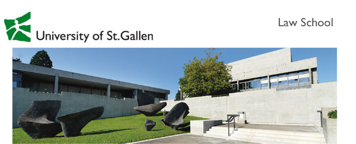 International Visiting Professorship Law - Universität St. Gallen - Logo