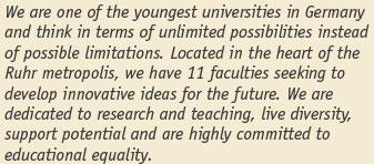 Professorship (W2) - Universität Duisburg-Essen - Bild
