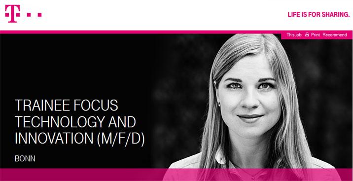 Trainee Fokus Sales & Innovation Management (m/w/d) - Telekom - Logo