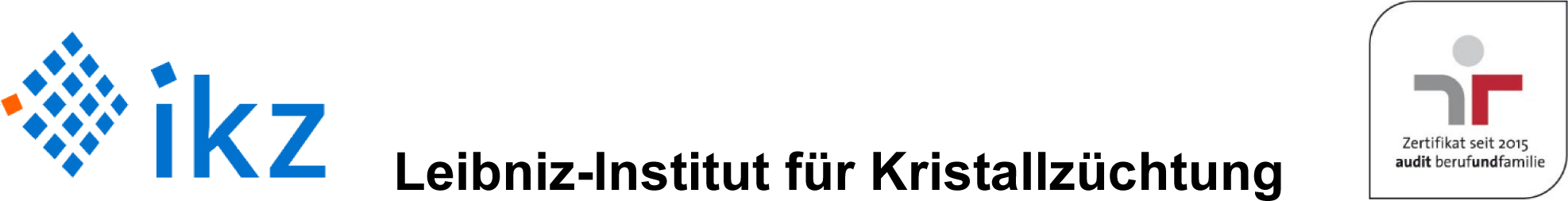 PhD position (f/m/d) - ikz - Header