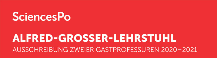 Gastprofessur Alfred-Grosser-Lehrstuhls - Sciences Po - Logo
