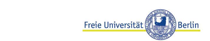 Wissenschaftlicher Mitarbeiter (Praedoc) (m/w/d) - Freie Universität Berlin - Logo