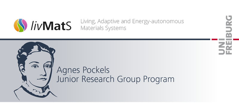 Agnes Pockels Junior Research Group Program - Uni Freiburg/livmats - Logo