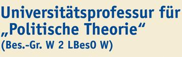 Professur (W2) für Politische Theorie - Uni Duisburg-Essen - logo