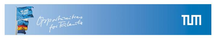 Tenure Track Assistant Professorship (W2) - Technische Universität München (TUM) - Logo