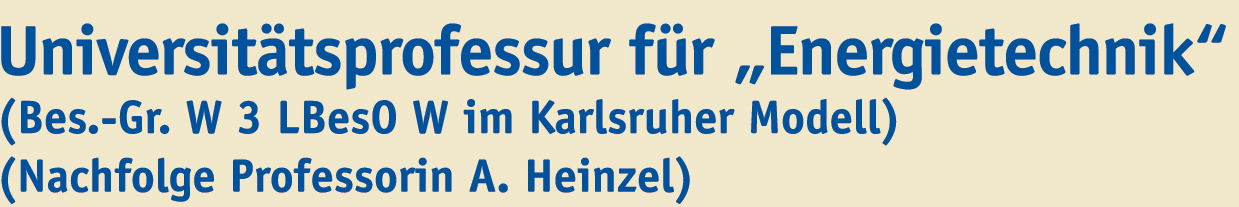 Universitätsprofessur (W3) - Uni Duisburg-Essen - logo