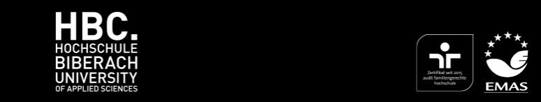 Wissenschaftl. Mitarbeiter für das Themengebiet Mobilität und Verhalten (m/w/d) - Hochschule Biberach - Logo