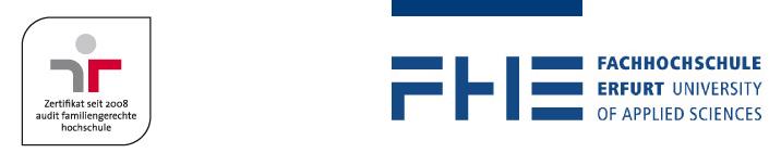 Professur (W2) für Web Engineering - Fachhochschule Erfurt - Logo