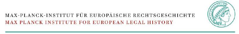 Postdoctoral Research Fellow (m/f/d) - Max-Planck-Institut für europäische Rechtsgeschichte (MPIeR) - Logo