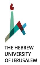 Postdoktorand (m/w/d) - Hebrew University of Jerusalem - Logo
