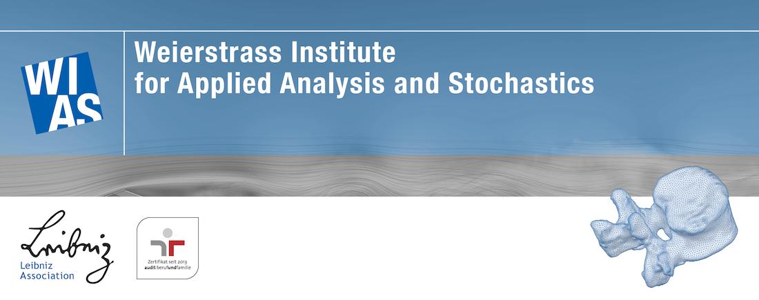 Postdoctoral Research Assistant (f/m/d) - Weierstraß-Institut für Angewandte Analysis und Stochastik - Logo