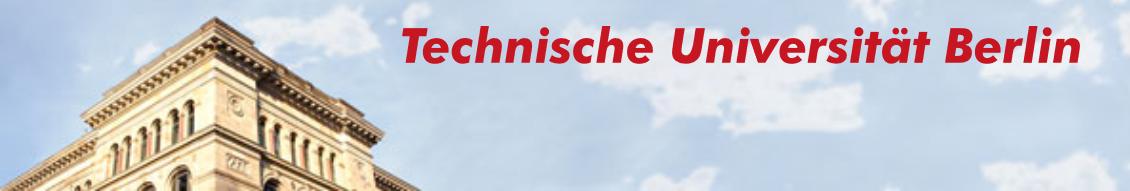 University Professorship (W2) - TU Berlin - Image Header