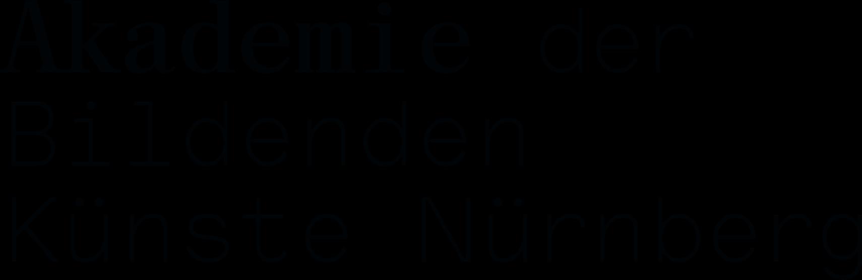 Projektmitarbeiter (m/w/d)  - Akademie der Bildenden Künste Nürnberg - Logo