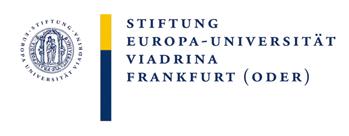 W1-Professur mit Tenure Track auf W2 für Theorien der Künste und Medien - Europa-Universität Viadrina - Logo
