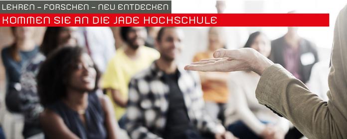 Professur Mitarbeiter (m/w/d) - Jade Hochschule - Header