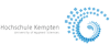 """Professur (W2) """"Digitalisierung in Bildung und Gesellschaft"""" - Hochschule für angewandte Wissenschaften Kempten - Logo"""