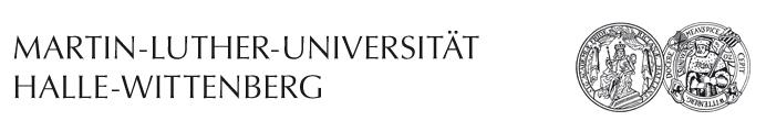 Professur (W2) Biochemische Pharmazie - Martin-Luther-Universität Halle-Wittenberg - Logo