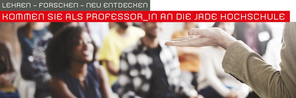 Professur (W2) für das GebietKonstruieren und Entwerfen - Jade Hochschule - Header