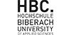 Wissenschaftlicher Mitarbeiter (m/w/d) im Bereich Hochschulentwicklung / Projektkoordination - Hochschule Biberach - Logo