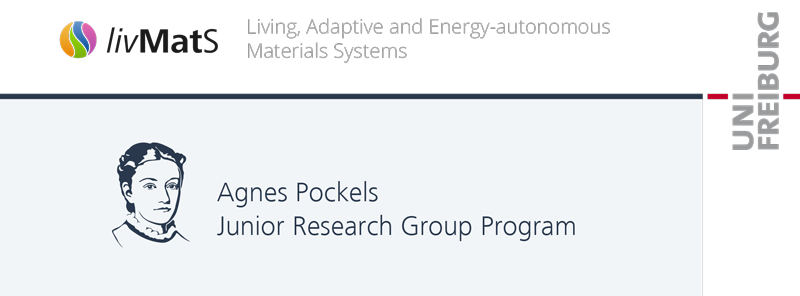 Agnes Pockels Junior Research Group Program - Uni Freiburg/livmats - Logo