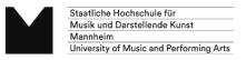 Mitarbeiter (m/w/d) technische Projektleitung und -koordination für beide Projektlinien - Staatliche Hochschule für Musik und Darstellende Kunst Mannheim - Logo