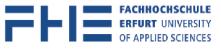 Professur (W2) für Gebäudeautomation - Fachhochschule Erfurt - Logo