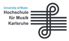 Professur (W2) für künstlerisch-wissenschaftliche Forschung - Hochschule für Musik (HfM) Karlsruhe - Logo
