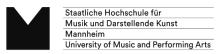 Leitung der Hochschulbibliothek (m/w/d) - Staatliche Hochschule für Musik und Darstellende Kunst Mannheim - Logo