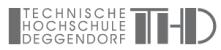 Forschungsprofessur (W2) Maschinen- und Anlagentechnik für digitalisierte Fertigungsprozessketten in der Unikatfertigung - Technische Hochschule Deggendorf (THD) - Logo