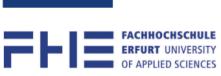 Professur (W2) Kultur- und Betriebssysteme im nachhaltigen Pflanzenbau - Fachhochschule Erfurt - Logo
