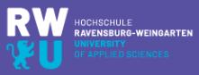Professur (W2) Rechnungswesen und Wirtschaftsrecht - Hochschule Ravensburg-Weingarten - Logo