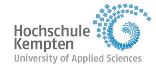 Professur (W2) Data Science im Gesundheitswesen - Hochschule für angewandte Wissenschaften Kempten - Hochschule Kempten - Logo